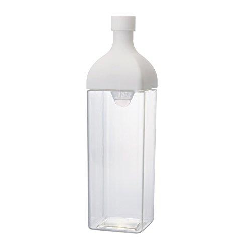 HARIO(ハリオ) カークボトル スモーキー ホワイト 樹脂製 縦横 ピッチャー 茶こし付き KAB-120-W