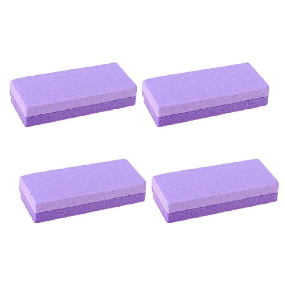 反響する洗剤二十Healifty 4本軽石足スクラバーカルスリムーバー硬い皮膚カルスリムーバーフットスクラバー足のかかとを手本体ヤシ