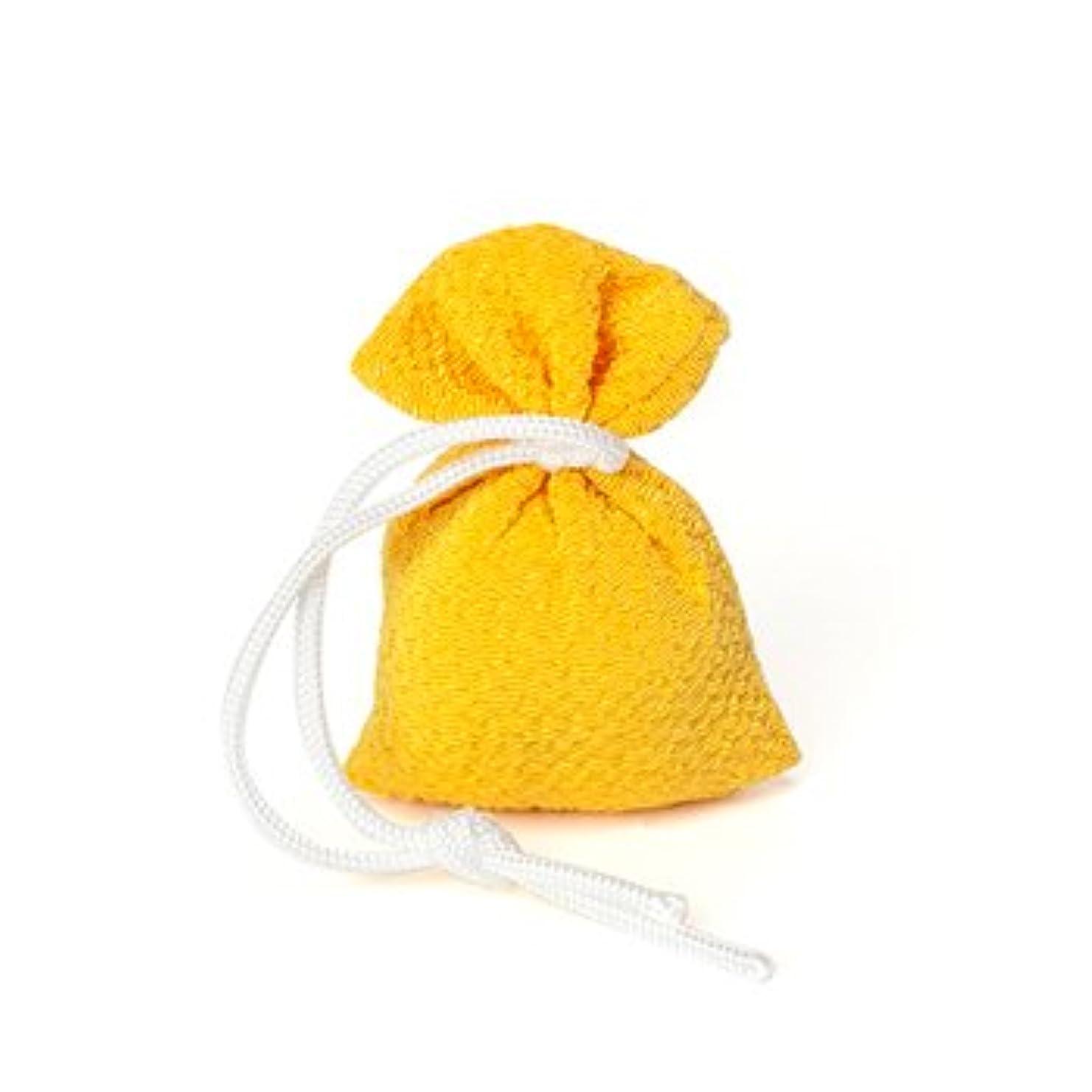 ブラウザアイデア乱用松栄堂 匂い袋 誰が袖 携帯用 1個入 ケースなし (色をお選びください) (黄)