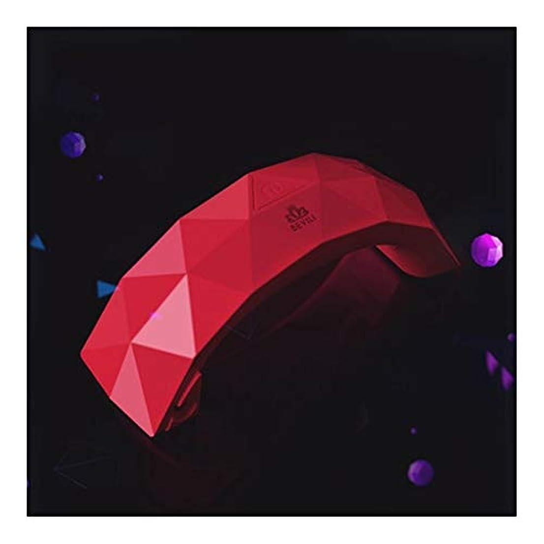 赤外線カスケード有用LittleCat ミニLEDレインボーライトセラピーランプジェルネイルポリッシュネイルズネイルドライヤーの熱ランプライト療法機械 (色 : 赤)
