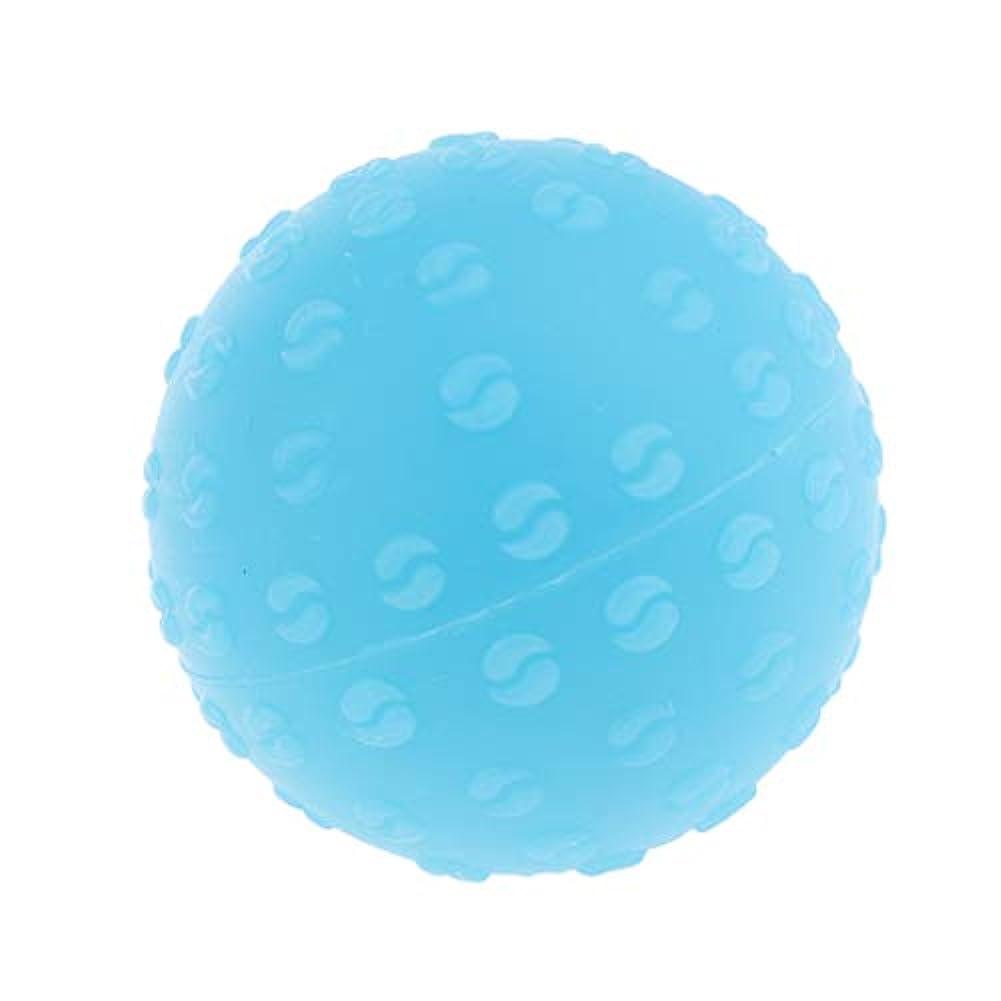 殺す気を散らす抑止する全6色 マッサージボール 指圧ボール シリコーン トリガーポイント 足底筋膜炎 ヨガ 耐油性 快適 - 青, 説明のとおり