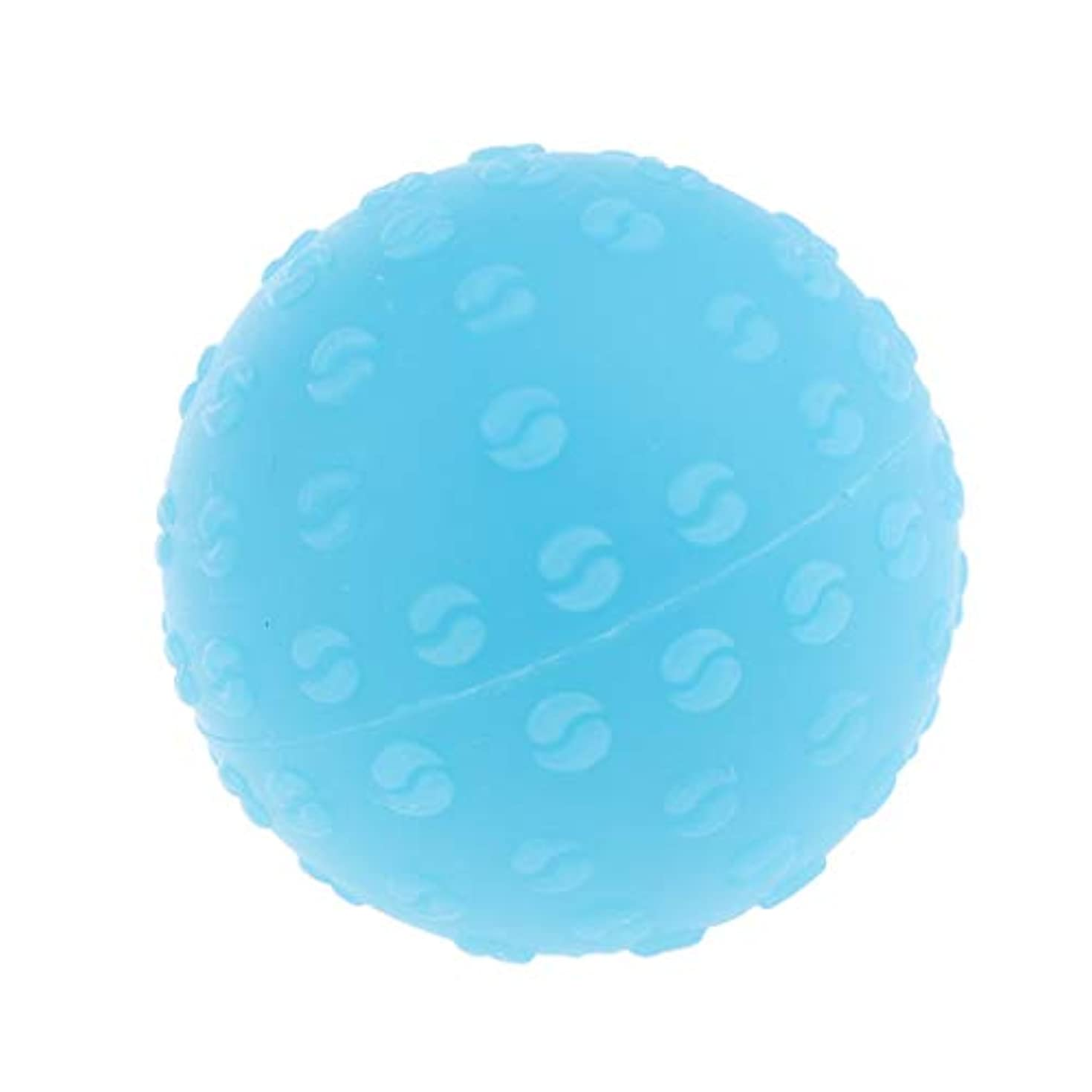 事務所献身レパートリー全6色 マッサージボール 指圧ボール シリコーン トリガーポイント 足底筋膜炎 ヨガ 耐油性 快適 - 青, 説明のとおり