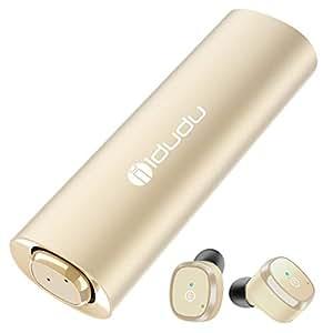 Bluetooth イヤホン 完全ワイヤレスイヤホン Bluetooth 5.0対応 IPX5防水防汗 ブルートゥースイヤホン カナル型 自動ペアリング 片耳&両耳とも対応 マイク内蔵 Siri対応 収納ケース付 iPhone/ Android 対応 TELEC&bluetooth&PSE認証取得済み ゴールド