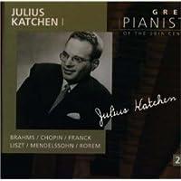 20世紀の偉大なるピアニストたち~ジュリアス・カッチェン