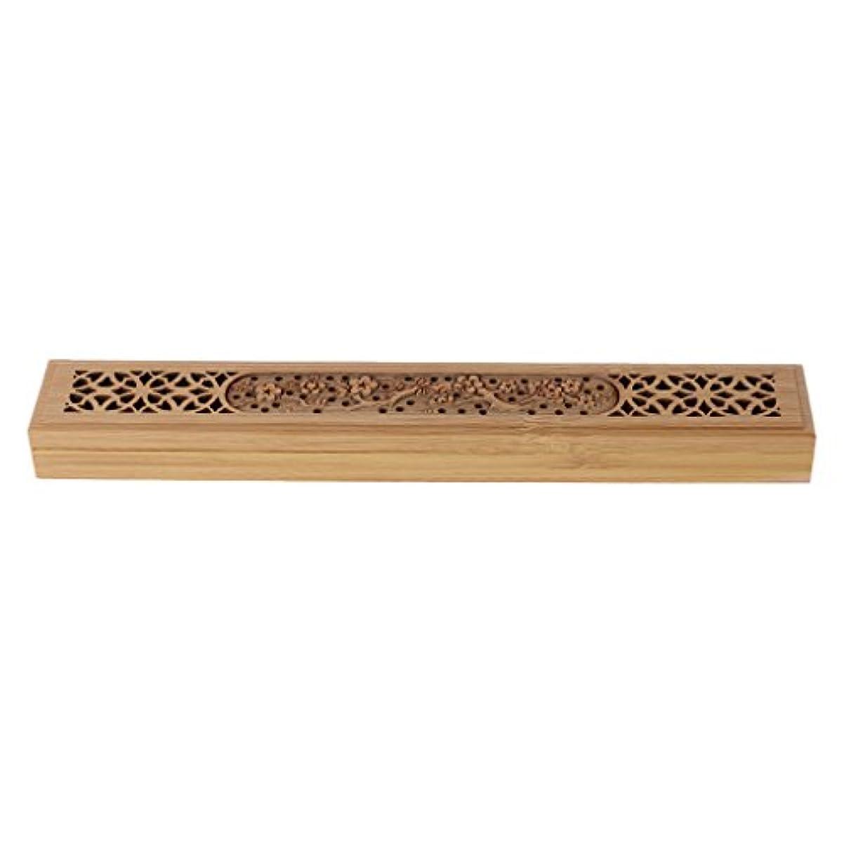 誠実さ留まる最初SimpleLife 木製の香炉バーナーレトロな手彫り中空のジョス棒の香りホルダーボックス