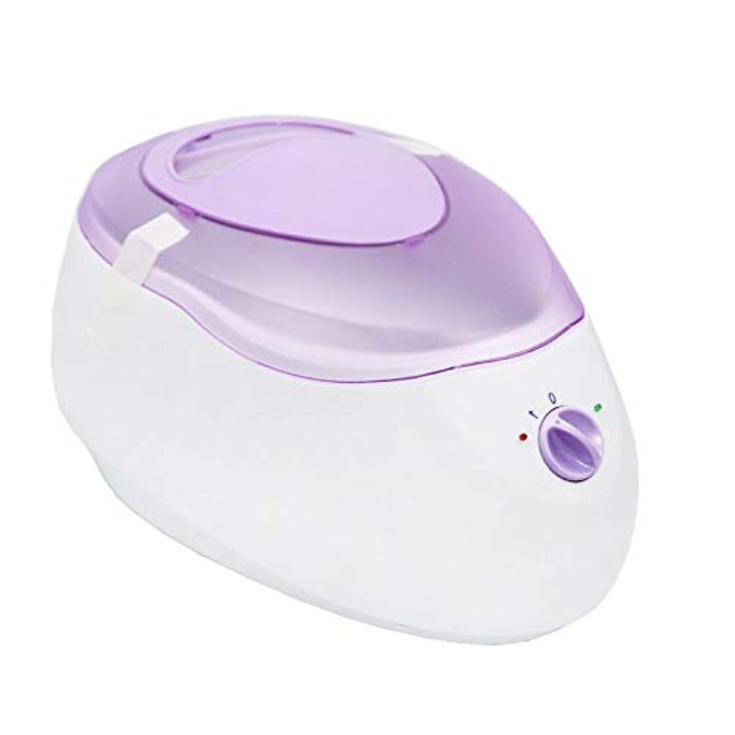 テーマ邪悪なソーシャルすべてのワックスタイプのための専門の電気ワックスヒーター、ワックスメルター可変温度とウォーマーと内蔵サーモ安全制御脱毛脱毛のために (Color : Purple)