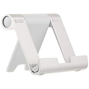 Amazonベーシック マルチアングル ポータブルスタンド(タブレット、キンドル、スマートフォン用)- シルバー