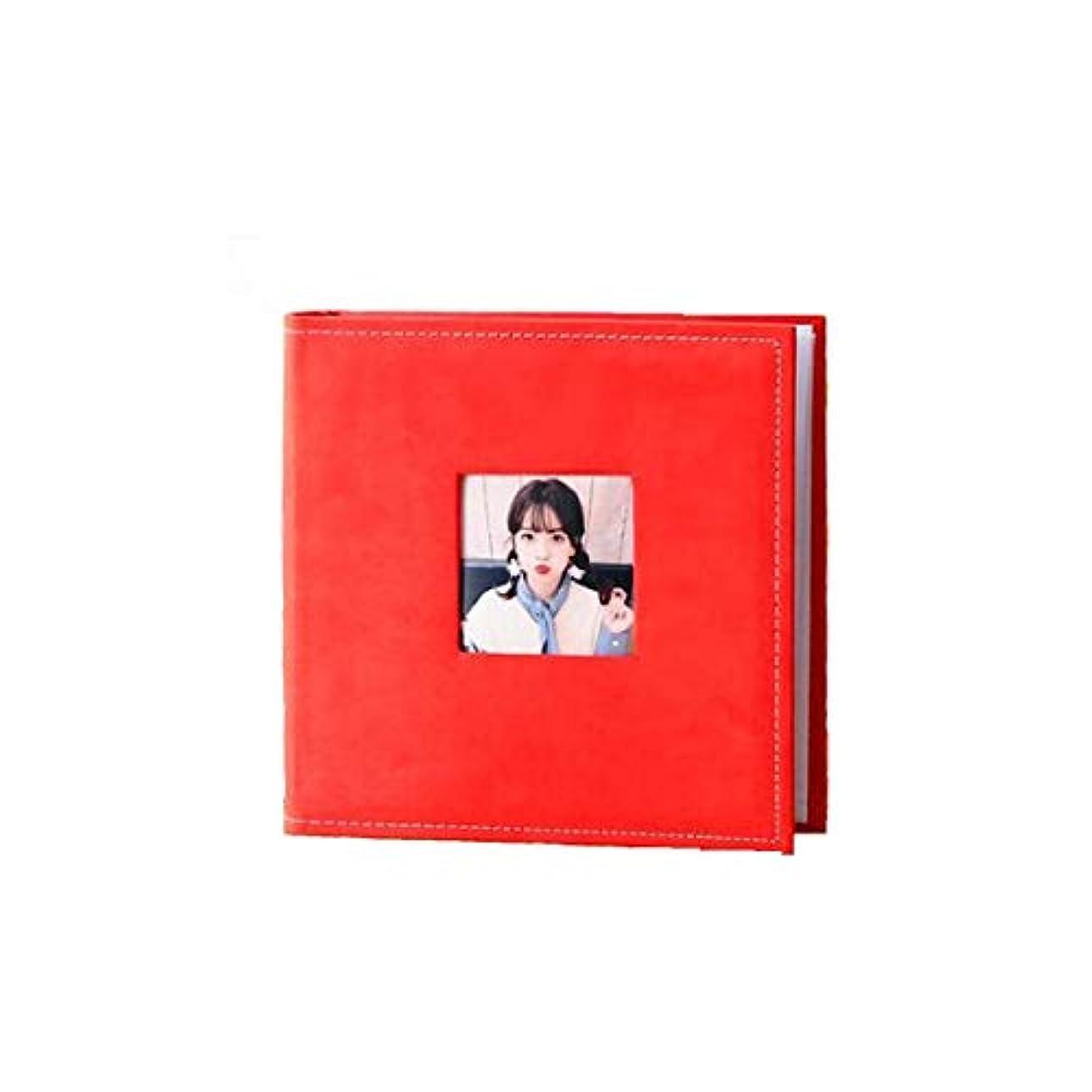 田舎者時間とともに従者NTSM アルバム、アルバム、インタースティシャル広告は、6インチの高容量200アルバムディアスキン (Color : Red)