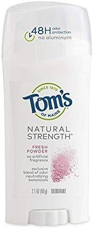 Tom's of Maine Natural Strength Deodorant, Deodorant for Women, Natural Deodorant, Fresh Powder, 2.1 O