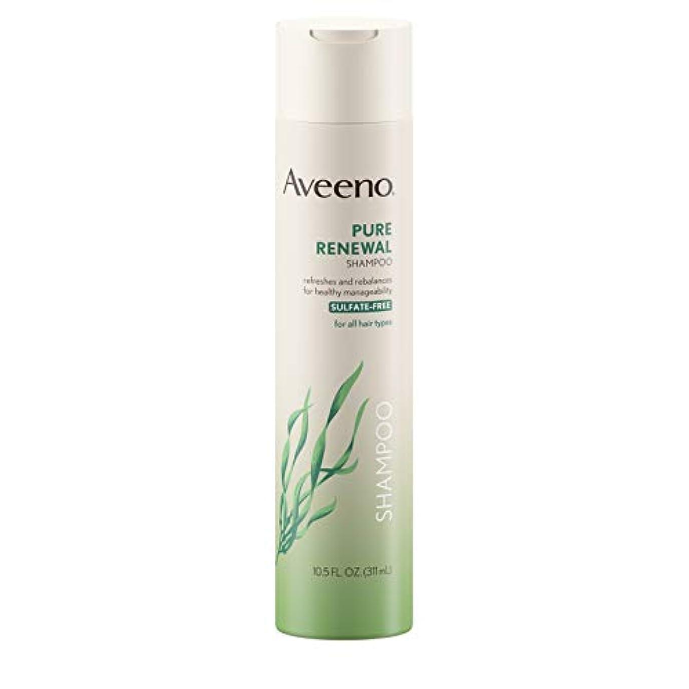 最大体細胞小切手Aveeno Pure Renewal Shampoo 310 ml (Sulfate-Free)