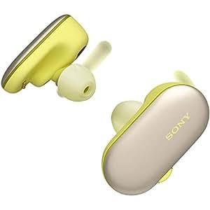 ソニー SONY 完全ワイヤレスイヤホン WF-SP900 : Bluetooth対応 左右分離型 防滴 防塵 4GBメモリ内蔵 2018年モデル イエロー WF-SP900 YM