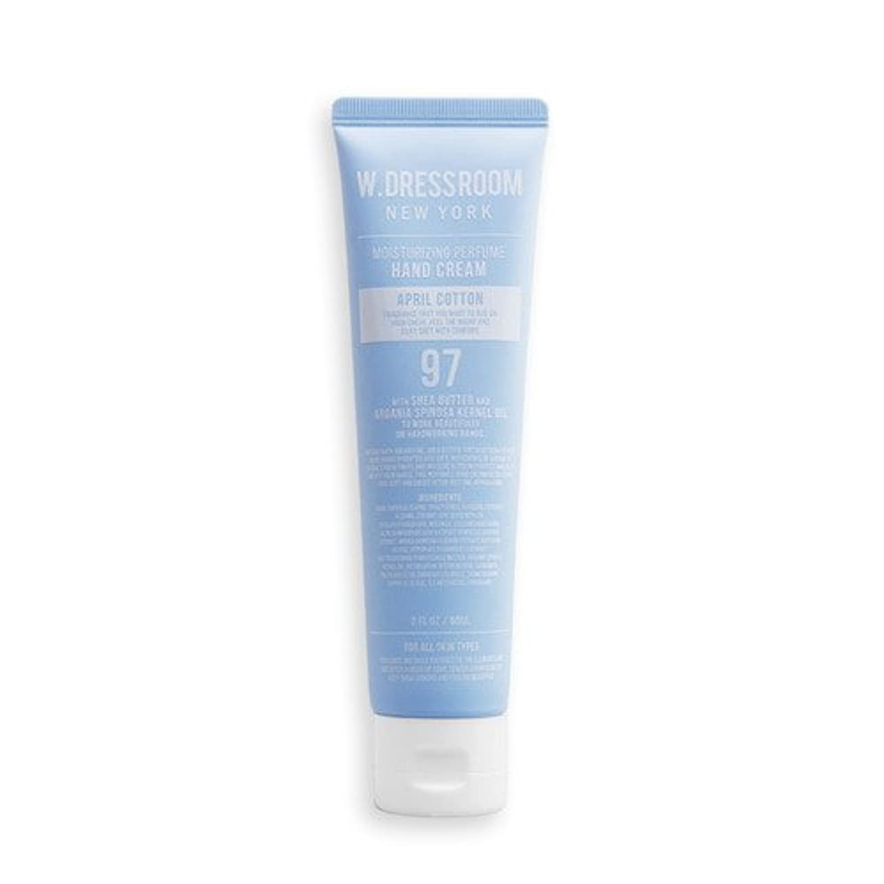 優先権風刺不機嫌W.DRESSROOM Moisturizing Perfume Hand Cream 60ml/ダブルドレスルーム モイスチャライジング パフューム ハンドクリーム 60ml (#No.97 April Cotton)...