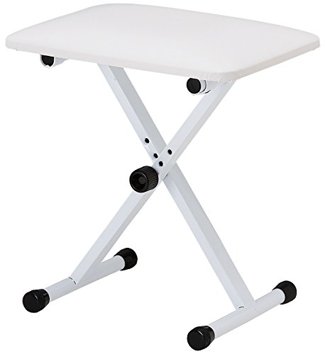 KC キーボードスローン (ピアノ椅子) ホワイト KB-4400/WH