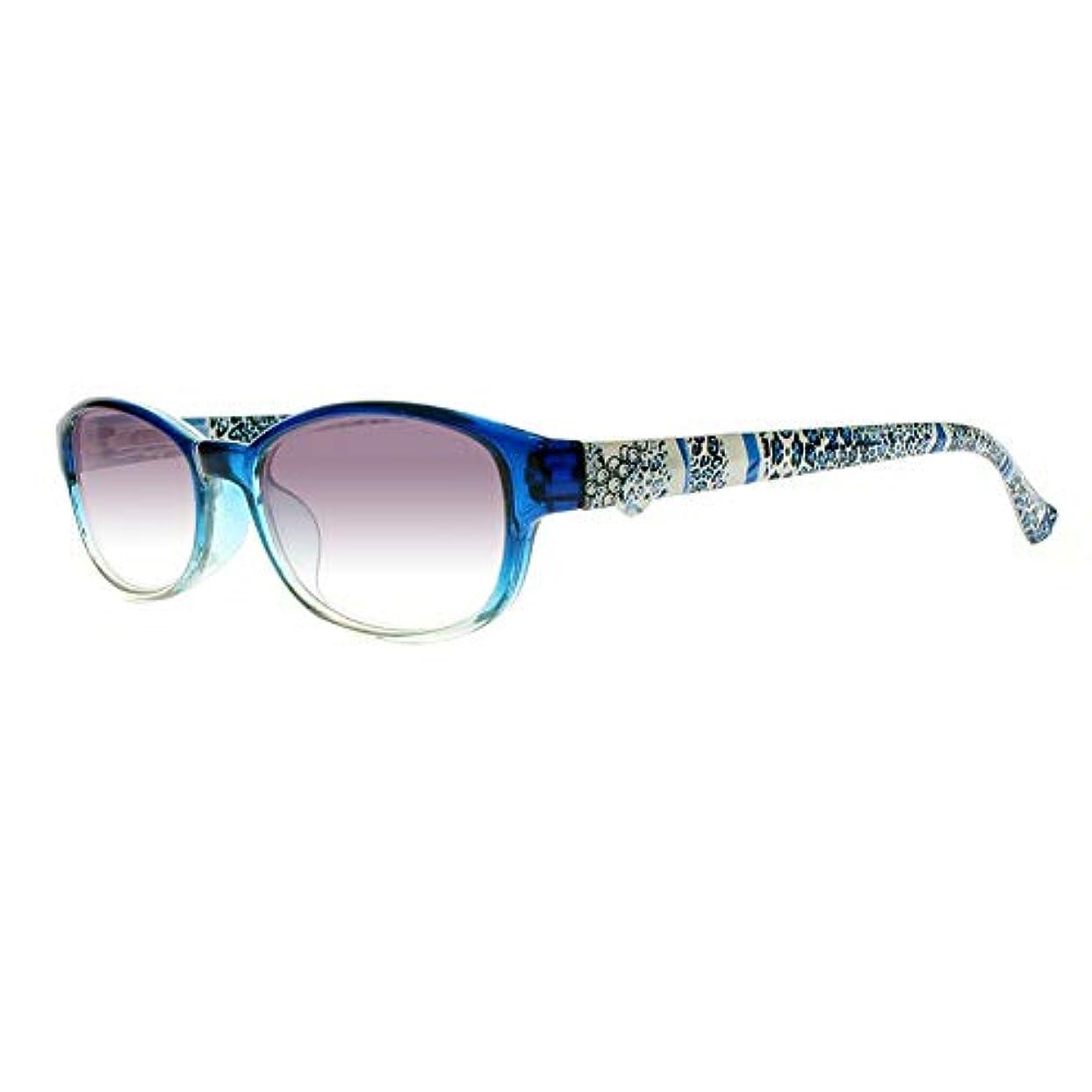 印をつけるもっともらしいライムFidgetGear 女性フラワーティンテッドレンズリーダー老眼鏡アイウェア+1.00?+4.00 New 青