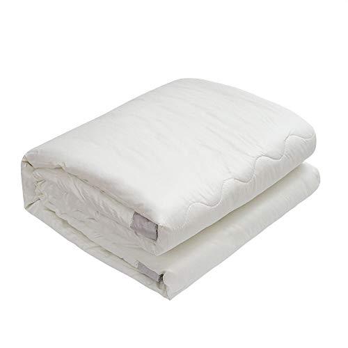 MyeFoam 肌掛け布団 シングル 掛け布団 洗える 柔らかい肌触り 抗菌防臭 オールシーズン使える肌布団 ピーチスキン加工 夏布団 150x210cm 収納袋付き