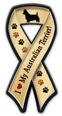 リボンマグネットバッジ『オーストラリアン・テリア大好き』Australian Terrier