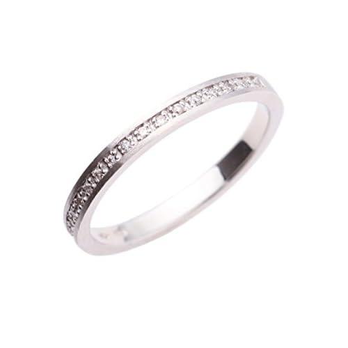 COCOSHNIK(ココシュニック)ダイヤモンドハーフエタニティ(K18WG) リング ホワイトゴールド(204) 10