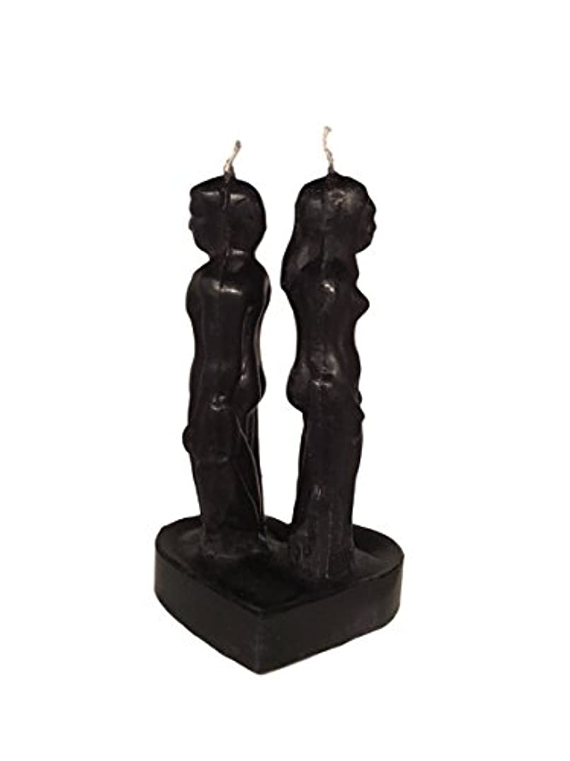 Black Man & Woman Back to Back Tall Separation Break Up Candle