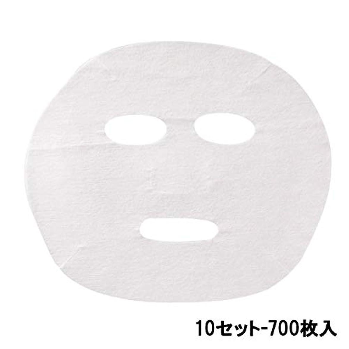 英語の授業がありますお手伝いさん無関心フェイシャルシート (薄手タイプ) 70枚入 22.5×18.5cm (10セット-700枚入) [ フェイスマスク フェイスシート フェイスパック フェイシャルマスク フェイシャルパック ローションマスク ローションパック...