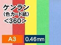 紙通販ダイゲン ケンラン(色カード紙) <360> A3/100枚 みず 011076_20