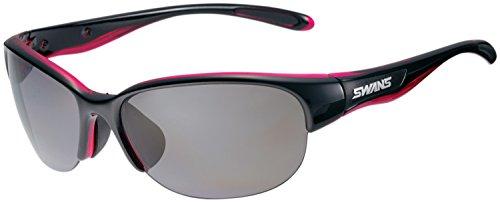 SWANS(スワンズ) スポーツ 偏光 サングラス ルナ 女性向け LN-0051 BK/P ブラック×クリアピンク