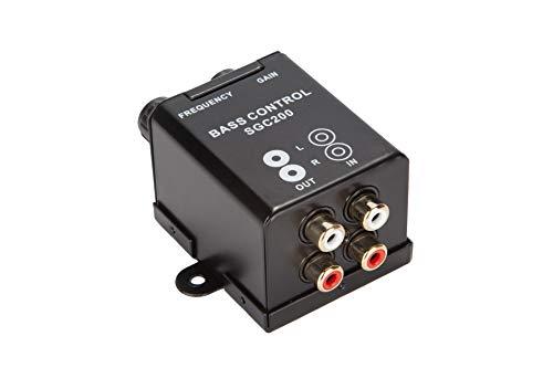 【車載用 低音調整器】 どシンプルな BASS ウーファー用 ボリュームコントローラー カーオーディオ用 ネジ...