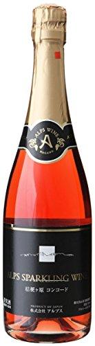 アルプス 桔梗ヶ原コンコードスパークリングワイン ロゼ 720ml [日本/スパークリングワイン/甘口/ミディアムボディ/1本]