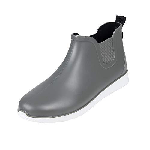 [Smiry] レインシューズ スニーカー メンズ ショートブーツ カジュアル 雨靴 防水 滑り止め レインブーツ サイドゴア 軽量 梅雨対策 4色(24.5~27.0cm)