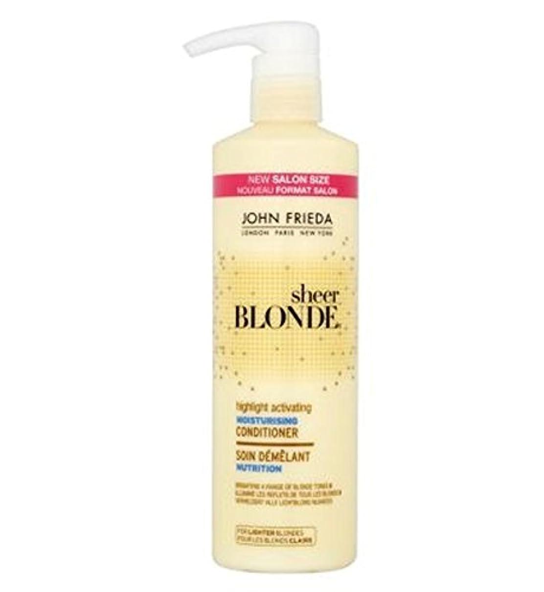 適度な有用遺体安置所John Frieda Sheer Blonde Highlight Activating Moisturising Conditioner 500ml - ジョン?フリーダ薄手のブロンドのハイライト活性化保湿コンディショナー...