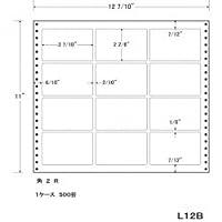 東洋印刷 タックフォームラベル 12 7/10インチ ×11インチ 12面付(1ケース500折) L12B