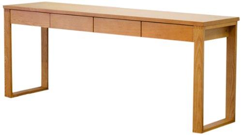 RoomClip商品情報 - ライフスタイリングショップ パソコンデスク 幅180×奥行45 木製 引出付 シンプル ライトブラウン LS-384LB