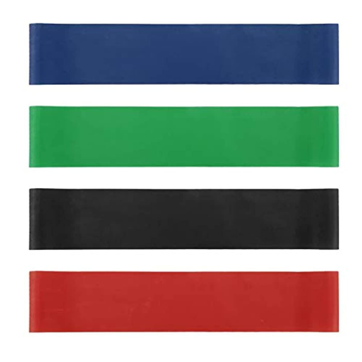 揃える速記キャンバス4本の伸縮性ゴム弾性ヨガベルトバンドプルロープ張力抵抗バンドループ強度のフィットネスヨガツール - レッド&ブルー&グリーン&ブラック
