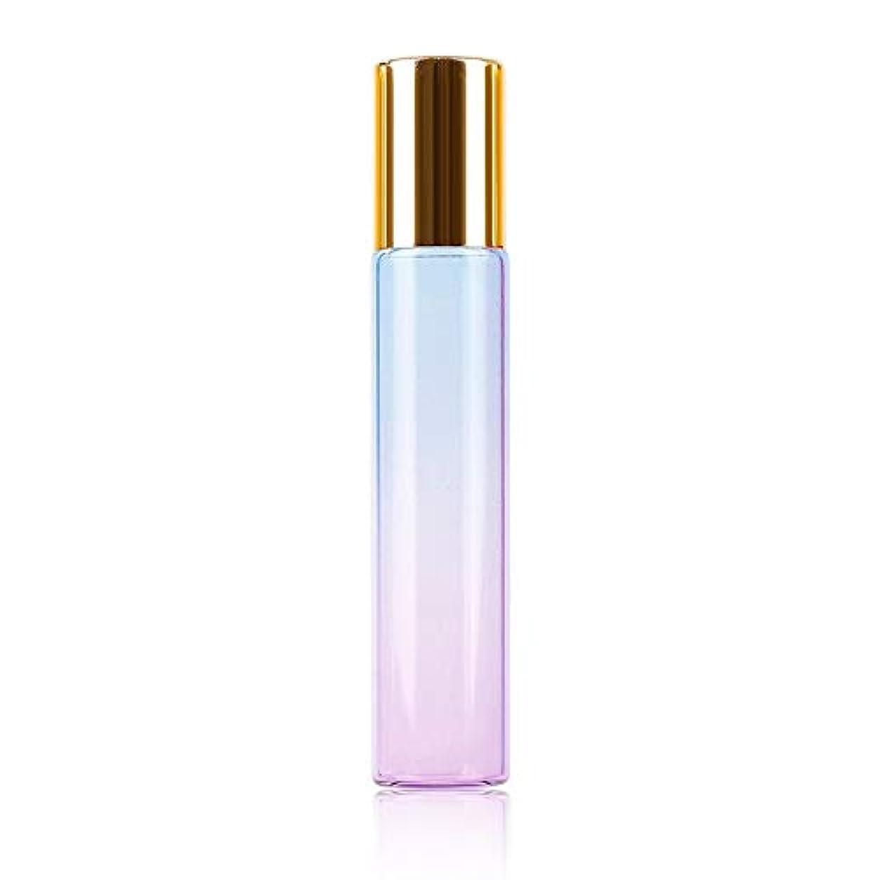 おじいちゃんあいまい粗い旅行、10ML、青紫色のボトル、グラスのための耐久性エッセンシャルオイル空の香水瓶のローラーボールボトルでの1pcs /クリニーク10ミリリットルグラデーションの色の厚いガラスロール