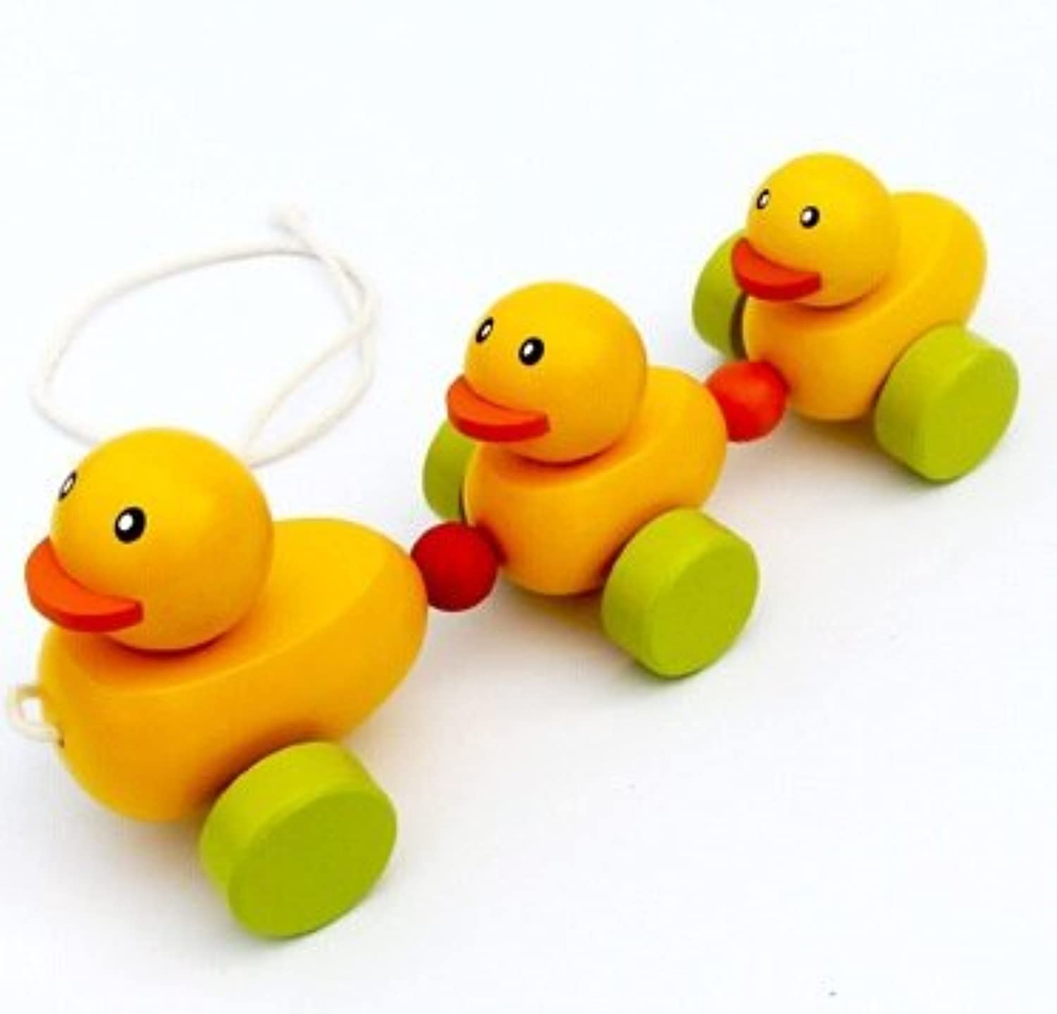 Wooden ToysドラッグYellow DuckトラクターウォーカーToys for Children