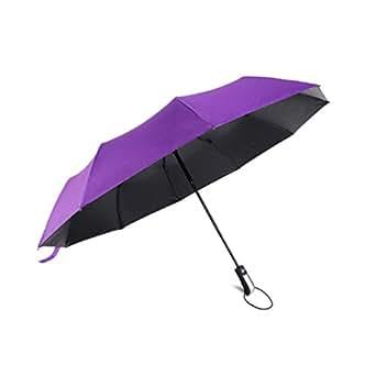 折り畳み傘 ワンタッチ 自動開閉 テフロン撥水加工 耐風 高強度 晴雨兼用 軽量 収納ポーチ付き