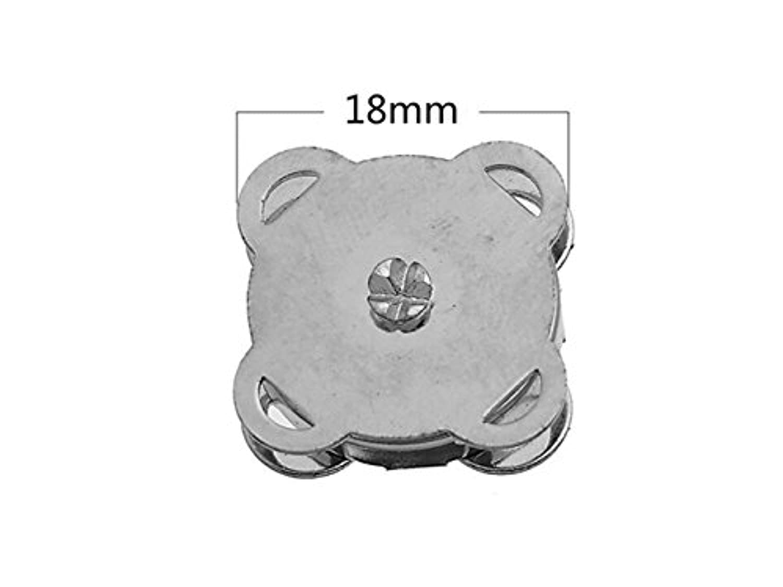 FenBuGu-JP 興味深い Approx.Ten SetリトルスウィーズスナップボタンバッグClasps(シルバー)_1.8cm