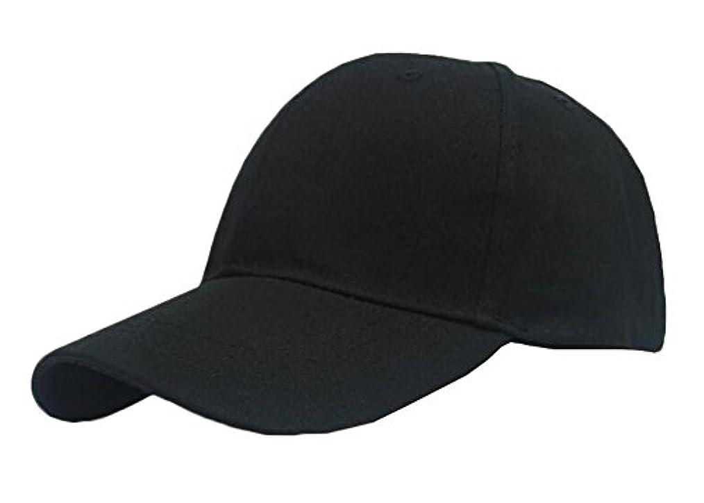ブラックシンプルスタイルの野球帽子クリケットキャップサン帽子