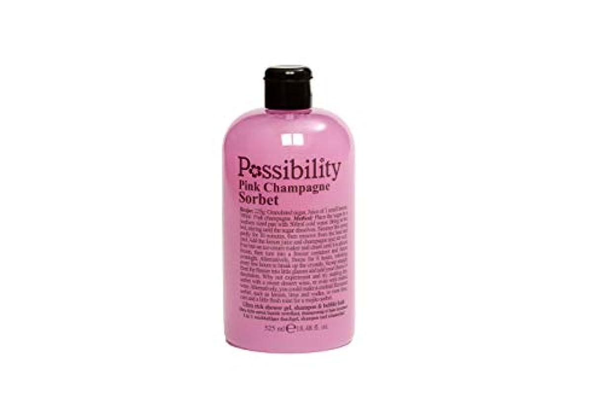 プライバシーバンかけるPossibility(ポッシビリティ) ウルトラリッチ3イン1ジェル ボディソープ?シャンプー?バブルバス ピンクシャンパンソルペ