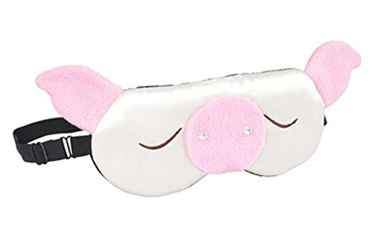 エチケット有彩色の赤字子供の旅行と昼寝のための睡眠アイシェード目隠しのためのかわいい豚ソフトシルクアイマスク