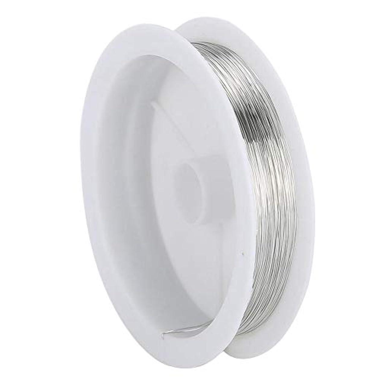 予測子圧力道路DIY ジュエリーワイヤー ビーズひもジュエリーアクセサリーネイルアートマニキュア金属銅線糸(2)