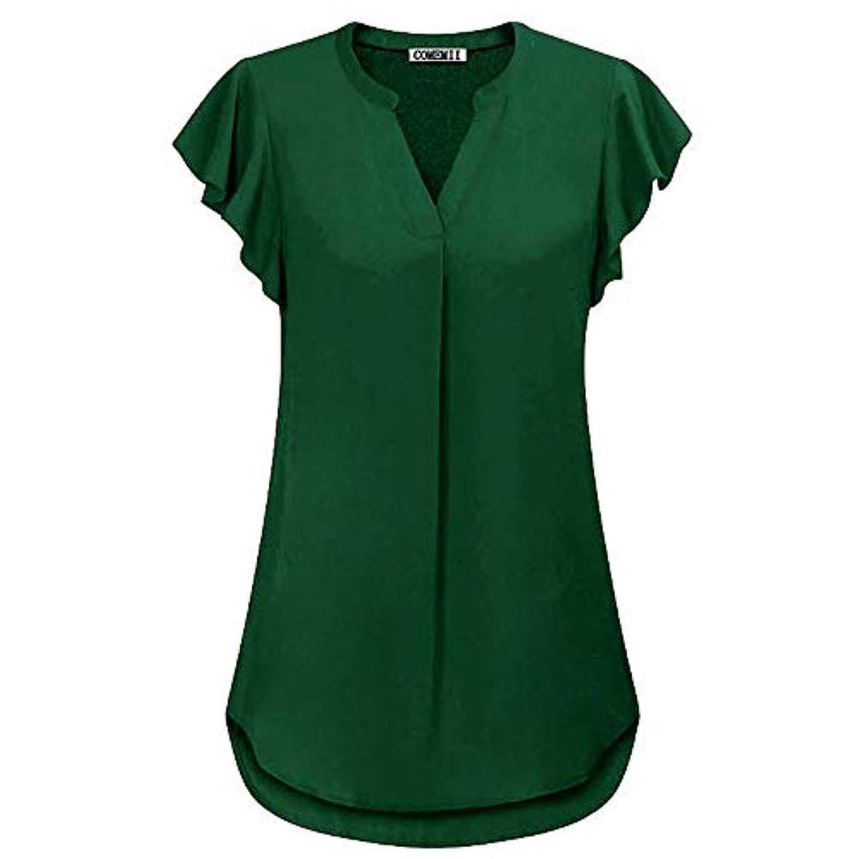染色研究所対処MIFAN女性ブラウス、シフォンブラウス、カジュアルTシャツ、ゆったりしたTシャツ、夏用トップス、シフォンシャツ、半袖、プラスサイズのファッション