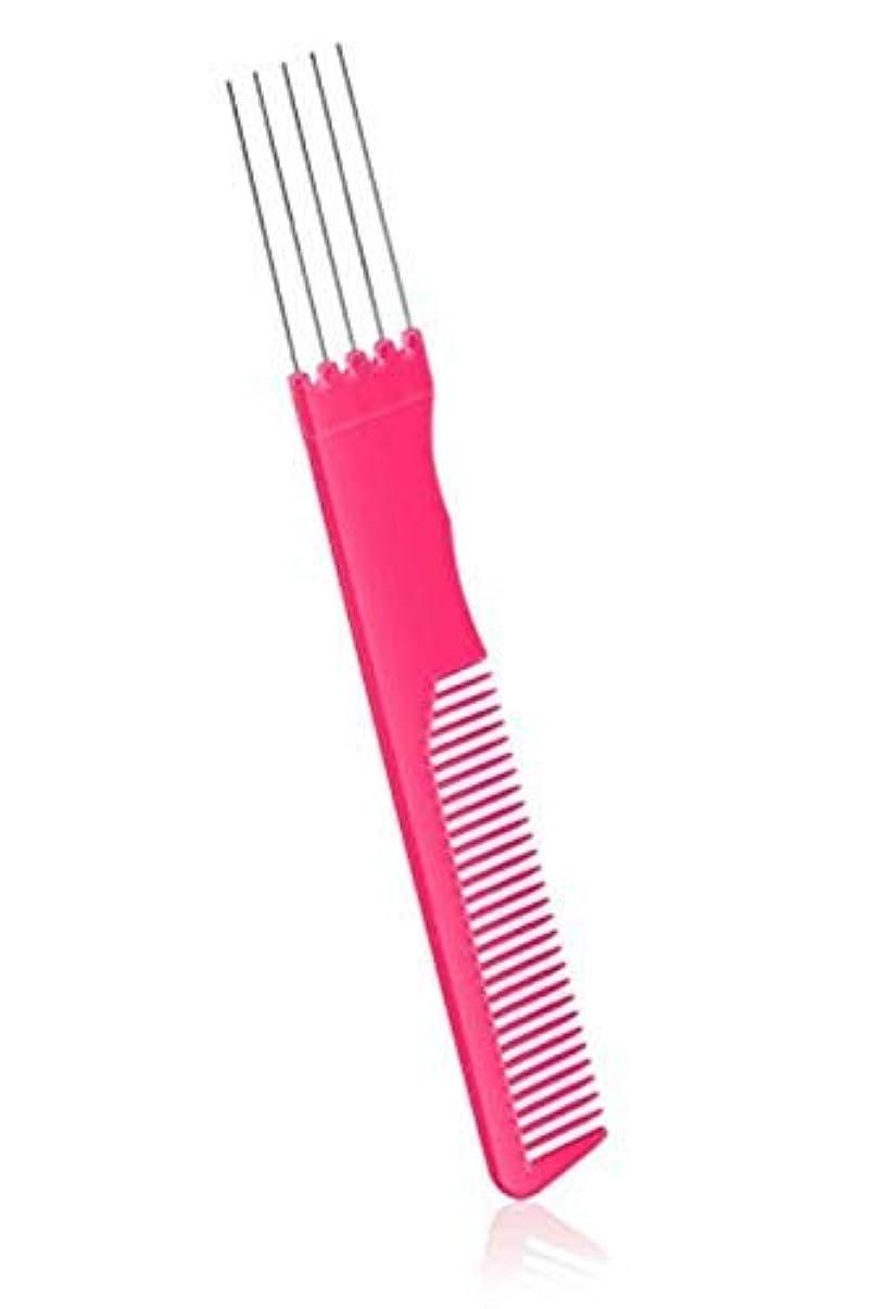 通行料金購入黒2 Pack Fashion Carbon Lift Teasing Combs with Metal Prong Perfect Salon Fluffing Lifting Styling with 5 Stainless...