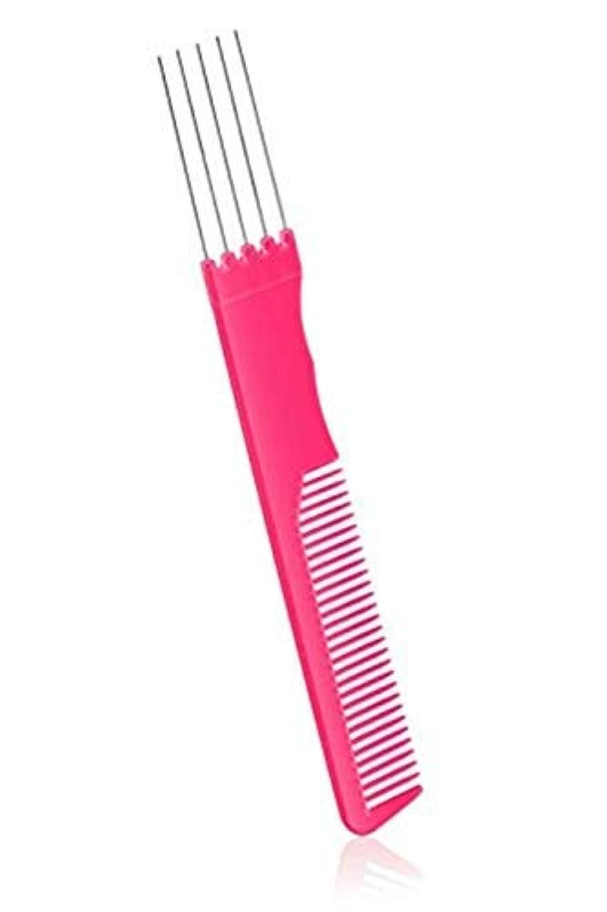敵対的テストフェードアウト2 Pack Fashion Carbon Lift Teasing Combs with Metal Prong Perfect Salon Fluffing Lifting Styling with 5 Stainless...