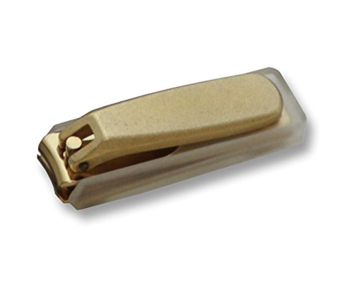 摂氏度主要な縫うKD-032 関の刃物 ゴールド爪切 小 カバー付
