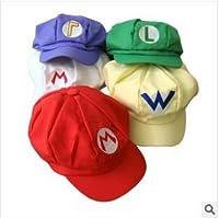 スーパーマリオ 帽子 キャップ ルイージ ワルイージ 白