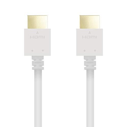 HDMIケーブル ハイスピード HDMI1.4 スリムコネクタ 3.0m ホワイト DH-HD14EB30WH