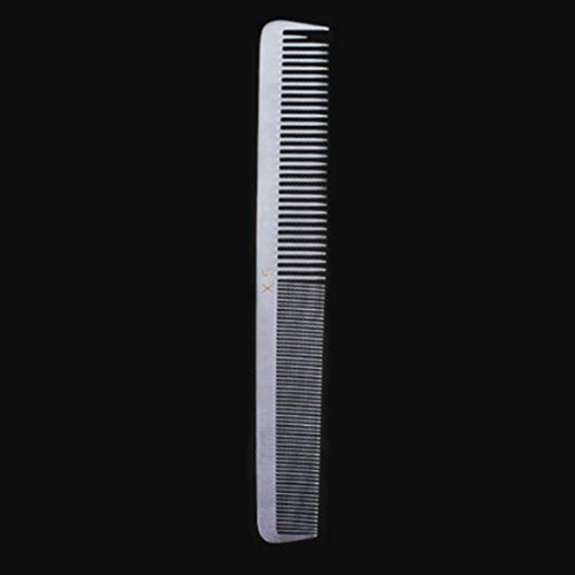 増強安定しました悪名高い特別な薄いステンレス鋼の毛の櫛、女性のための帯電防止櫛または人のための平らな毛との銀製の白さまざまな櫛 モデリングツール (サイズ : X5)
