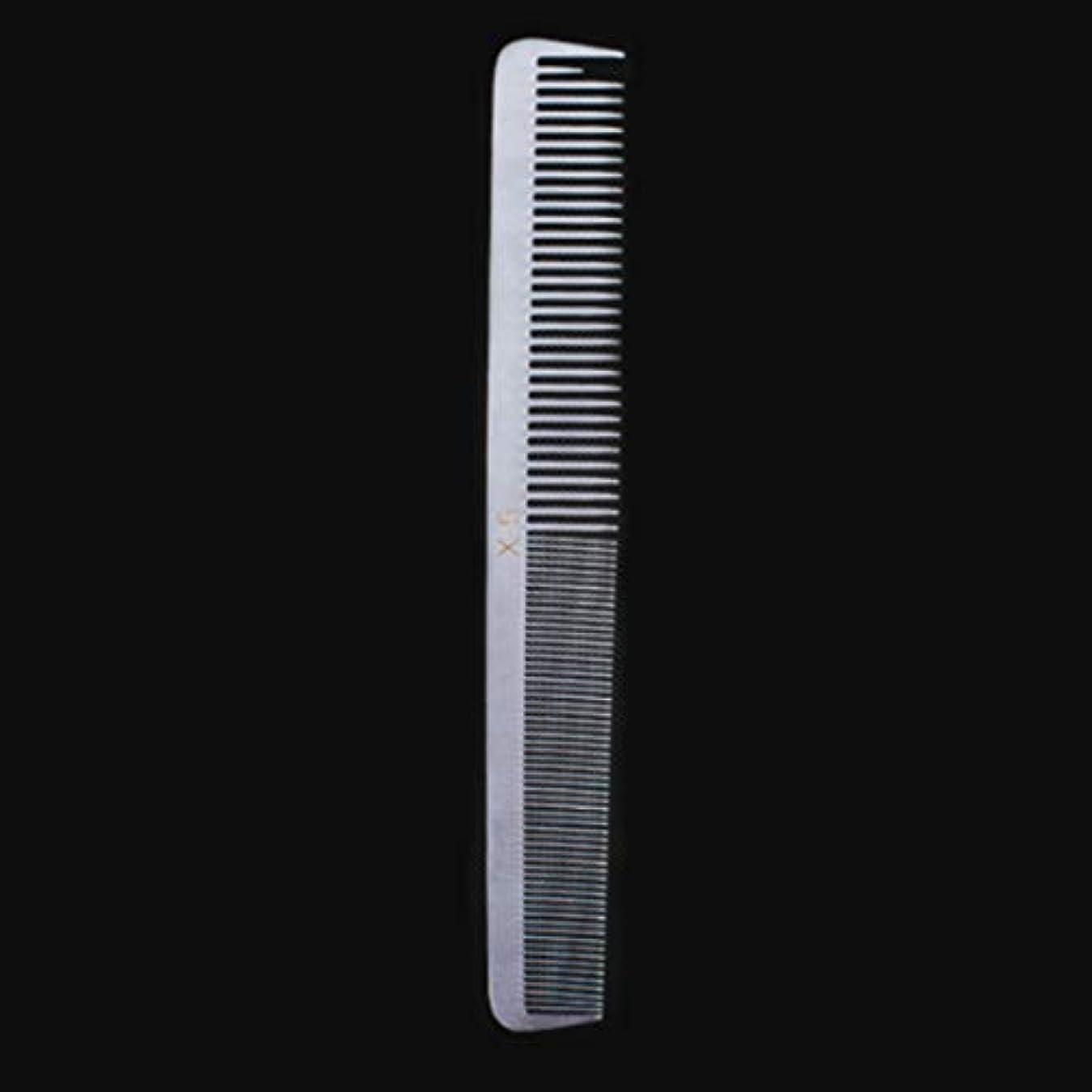 実行可能耐久個性特別な薄いステンレス鋼の毛の櫛、女性のための帯電防止櫛または人のための平らな毛との銀製の白さまざまな櫛 モデリングツール (サイズ : X5)