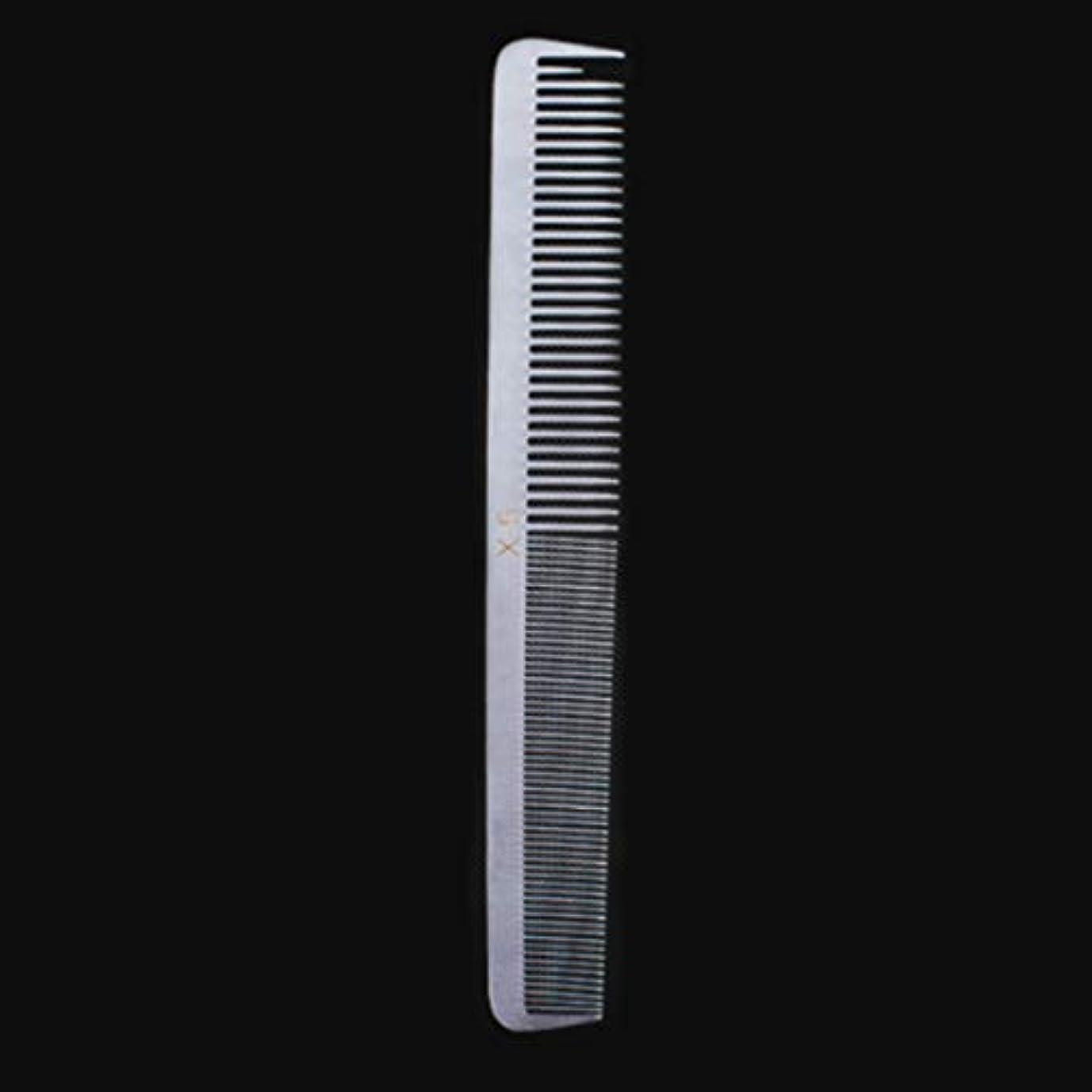 部分的に研磨剤背骨特別な薄いステンレス鋼の毛の櫛、女性のための帯電防止櫛または人のための平らな毛との銀製の白さまざまな櫛 モデリングツール (サイズ : X5)