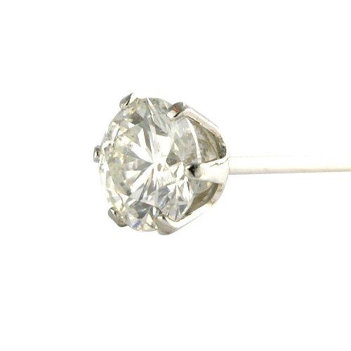 【 DIAMOND WORLD 】レディース ジュエリー PT900 ダイヤモンド ピアス 0.25ct 6本爪タイプ ダイヤモンド FGカラー 片耳ピアス メンズ